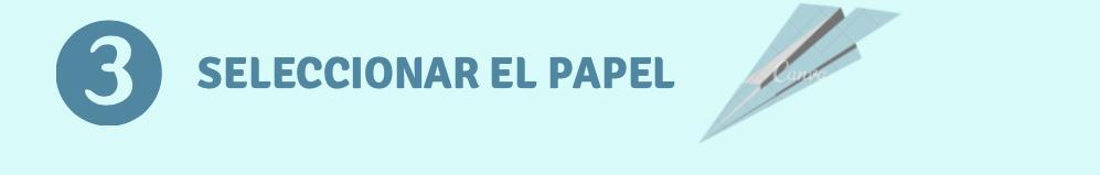 selecionar el papel